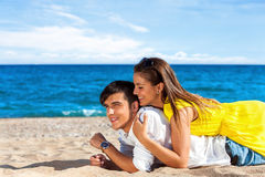 Teen Couple on holiday. Stock Photos