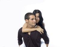 Teen couple isolated Stock Photo