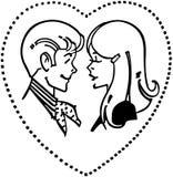 Teen Couple In Love Heart Stock Photo
