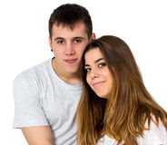 Teen couple Stock Photo