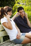 Teen couple smiling Stock Images