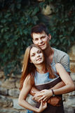 Teen couple together Royalty Free Stock Image