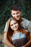 Teen couple together Stock Photo