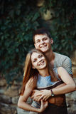 Teen couple together Stock Images