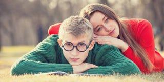 Teen couple Stock Photo