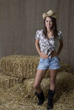 Teen cowgirl Royalty Free Stock Photo