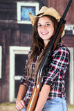 Teen Cowgirl Closeup Royalty Free Stock Photos