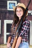 Teen Cowgirl Closeup Royalty Free Stock Photos