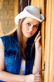 Teen Cowgirl Looking Serious Stock Photos