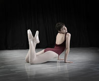 Teen dancer  in the studio Royalty Free Stock Photo