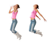 Teen  dancing Royalty Free Stock Images