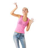 Teen  dancing Royalty Free Stock Photos