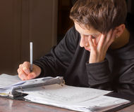 Teen Doing Schoolwork Royalty Free Stock Images
