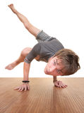 Teen Doing Yogasana Stock Images