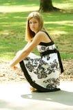 Teen in a dress. Teen wearing a beautiful dress outside Stock Photography