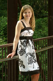 Teen in a dress. Teen wearing a beautiful dress outside Stock Photos