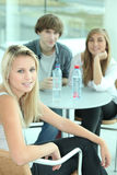 Teen drinking water Stock Images