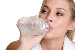 Teen Drinking Water Stock Photo