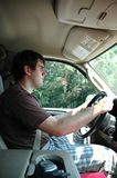 Teen Driver. Male teen driver behind the wheel Royalty Free Stock Images