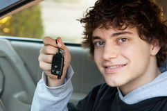 Teen driver holding keys Stock Photo