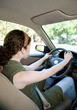 Teen Driver Vertical Royalty Free Stock Images