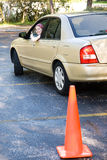 Teen Driving Test Thumbsup Stock Photography