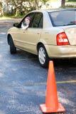 Teen Driving Test Thumbsup Stock Photography