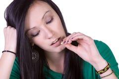 Teen Drug Addiction Problem. Teen Girl Taking Drugs - Teenage Drug Addiction Problem Royalty Free Stock Photo