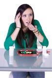 Teen Drug Addiction Problem. Teen Girl Taking Drugs - Teenage Drug Addiction Problem Stock Images