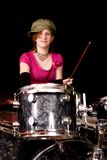 Teen Drumer Royalty Free Stock Photos