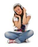 Teen enjoying music Royalty Free Stock Image