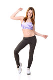Teen enjoying zumba workout Stock Photography