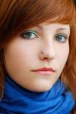 teen färgrik redhead för inställning Arkivbilder