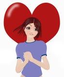 teen förälskelse royaltyfri illustrationer