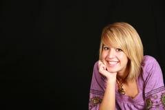 teen förtjusande blond flicka Fotografering för Bildbyråer