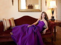 Teen in Fancy Gown Stock Photos