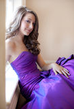Teen in Fancy Gown Stock Photography
