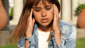 Teen Female With Headache Or Stress Royalty Free Stock Images