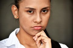 Teen Female Making A Decision stock photo