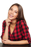 Teen female smiling with braces on her teeth Stock Image