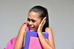 Teen Female Student And Worry. A pretty female latina teen stock images