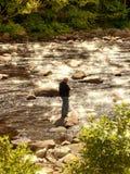 Teen fishing stock images