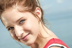Teen fitness and heath care concept Stock Photos