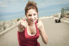 Teen fitness and heath care concept Stock Photography