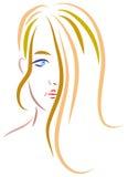 teen flicka stock illustrationer