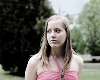 teen flicka Royaltyfri Foto