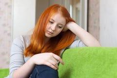 Teen flicka som har besvikelse Arkivbilder