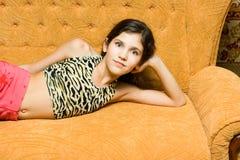 teen flickarest Royaltyfri Fotografi