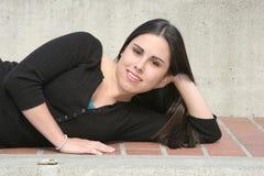 teen flickastående Fotografering för Bildbyråer
