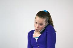 teen flickatelefonsamtal Arkivfoton